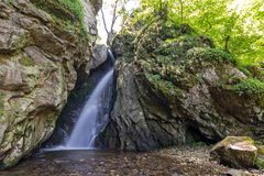 Landscape of Fotinovo waterfalls cascade Fotinski waterfall in Rhodopes Mountain, Bulgaria. Landscape of Fotinovo waterfalls cascade Fotinski waterfall in Stock Images
