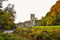 Landscape with Fountains Abbey Stock Photos