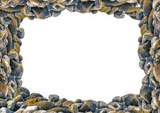 Landscape Frame with Rocks Borders. White frame background with rock photo borders Royalty Free Stock Photos