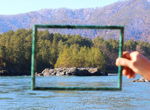 Landscape framed Royalty Free Stock Photo