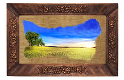 Landscape framed Royalty Free Stock Image