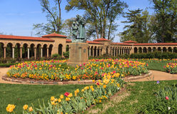 Landscape Franciscan Monastery Grounds Washington  Stock Images