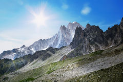 Landscape of French Alps stock photography