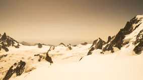 Landscape in the French Alps - Mont Blanc massif Stock Photos