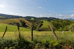 Landscape of the French Basque country royalty free stock image