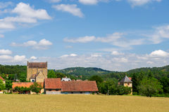 Landscape in French Dordogne Royalty Free Stock Images
