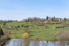 Landscape French Limousin Stock Photos