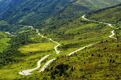 Landscape of French Pyrenees Royalty Free Stock Photo