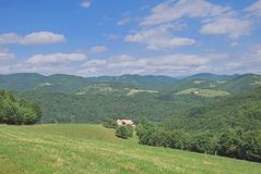 Landscape in French Vosges,France Royalty Free Stock Image