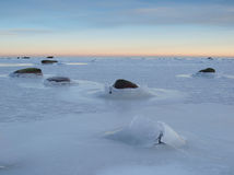 Landscape of a frozen sea Royalty Free Stock Photos