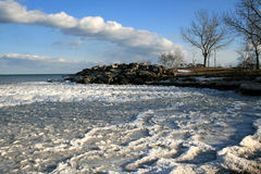 Landscape with Frozen waves Stock Photos