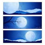 Landscape full moon in the sky Stock Photography