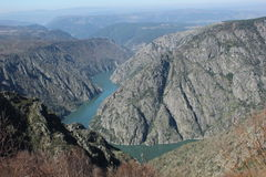 Landscape Galicia. Cañones Sil (Canyon Sil) in Ourense, Galicia. Wine Ribeira Sacra Royalty Free Stock Photo