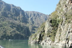 Landscape Galicia. Canyon river Sil, in center of galicia Royalty Free Stock Photo