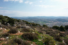 Landscape of Galilee Israel Royalty Free Stock Images