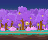 Landscape for game.Background for game. Seamless cartoon landscape.  unending background. Royalty Free Stock Image
