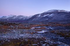 Landscape at Gamle Strynefjellsvegen, National tourist road, Nor Royalty Free Stock Photo