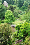 Landscape Garden. English Landscape Garden with Many Trees in Full Leaf Royalty Free Stock Images