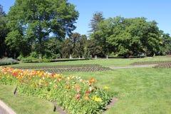Landscape garden beds at Ballarat Botanic Gardens Stock Image