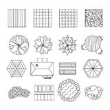 Landscape garden design elements set line Stock Images