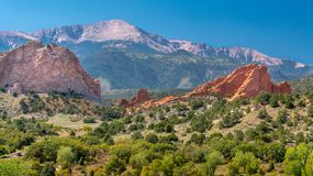 Landscape of The Garden of the Gods stock images