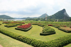 Landscape garden in Thailand. Stock Photo
