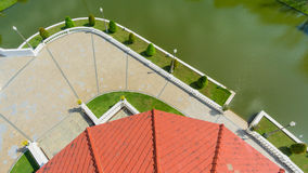 Landscape garden top view Royalty Free Stock Photos