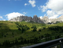 Landscape of Gardena Pass Royalty Free Stock Photos