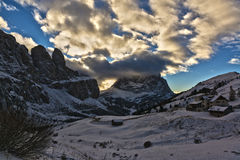 Landscape from Gardena Pass Royalty Free Stock Photography