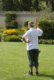 Landscape gardener. A landscape gardener at work royalty free stock photo