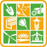 Landscape and Gardening Icons Stock Photo