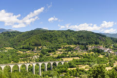 Landscape in Garfagnana (Tuscany) Stock Photo