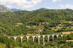 Landscape in Garfagnana (Tuscany) Royalty Free Stock Photography