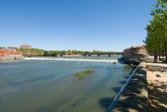 Landscape of Garonne river Royalty Free Stock Images