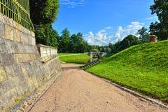 Landscape in Gatchina garden. Stock Image
