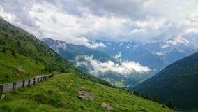 Landscape from Gavia Pass, Italian Alps Royalty Free Stock Image