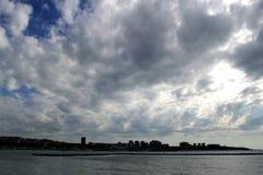 Landscape at Gelendzhik, Russia. Views of town Gelendzhik with sky, sea Stock Image