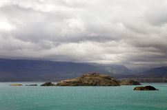 Landscape at the General Carrera Lake, Patagonia, Chile. Landscape from the shore of the General Carrera Lake, Patagonia, Chile Royalty Free Stock Photo
