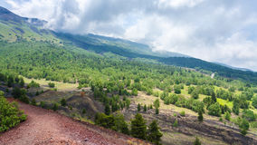 Landscape with gentle slope of Etna volcano Royalty Free Stock Photography