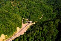Landscape of Georgia. Landscape, forest, nature, roads of Georgia Stock Photo