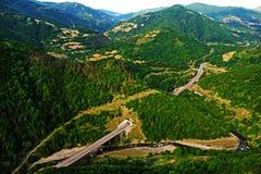 Landscape of Georgia. Landscape, mountins, fields of Georgia Royalty Free Stock Image