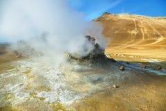 Landscape in the geothermal area Hverir Stock Image