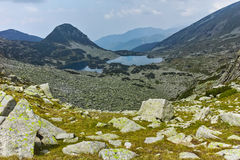 Landscape with Gergiyski lakes,  Pirin Mountain Royalty Free Stock Photos