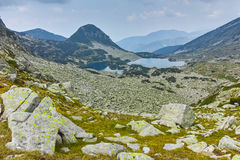Landscape with Gergiyski lakes,  Pirin Mountain Stock Photos