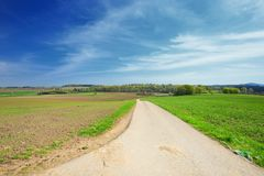 Landscape German Eifel Stock Photo