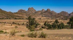 Landscape in Gheralta in Tigray, Northern Ethiopia. stock photo