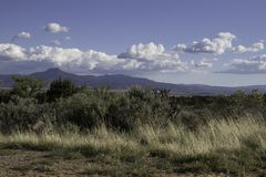 New Mexico landscape on a sunny day. Landscape at ghost ranch in New Mexico on a sunny day Royalty Free Stock Photo