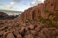 Giant`s Causeway in a beautiful summer day, Northern Ireland stock image