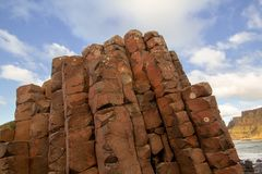 Giant`s Causeway in a beautiful summer day, Northern Ireland royalty free stock photography