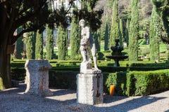 Landscape of Giusti Garden in Verona in spring Stock Photography